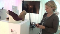 Carey Jewitt taking digital fieldnotes at Wearable Futures 2013 in Ravensbourne.