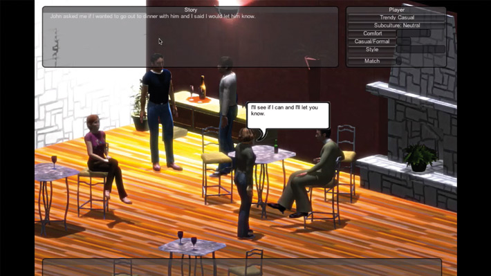 A screenshot of Thomas Makryniotis's fashion game.