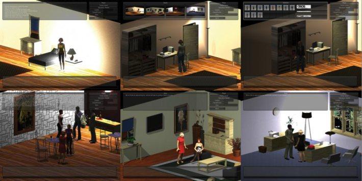 Six screenshots of Thomas Makryniotis's fashion game.